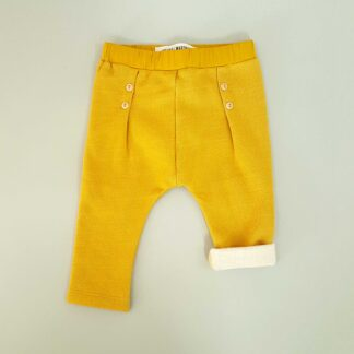 weasel wardrobe pants button golden mustard