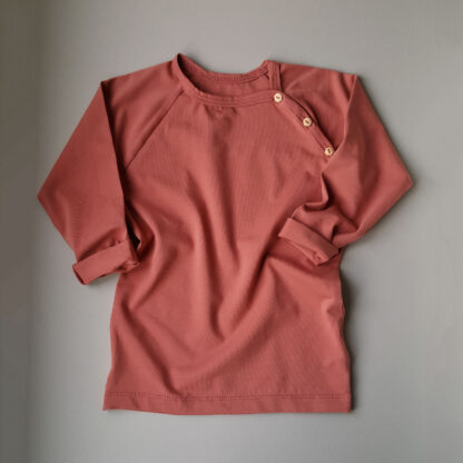 weasel wardrobe shirt long sleeve soft rose tshirt